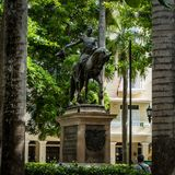 Cartagena City Statue Colombia South America stock photography
