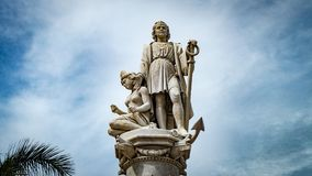 Cartagena City Statue Colombia South America royalty free stock images