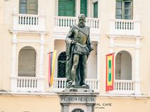 Cartagena City Statue Colombia South America. Very much one of the main tourist attractions and points of interest in the area royalty free stock photo