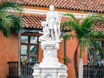 Cartagena City Statue Colombia South America. Very much one of the main tourist attractions and points of interest in the area royalty free stock photos