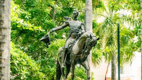 Cartagena City Statue Colombia South America royalty free stock photos