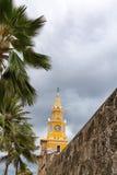 Cartagena clock tower stock images
