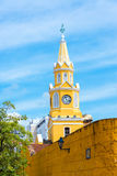 Cartagena Clock Tower. Historic clock tower marking the main entrance to the historic center of Cartagena, Colombia Stock Photography