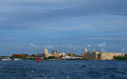 Cartagena, Colombia. From the harbor stock photos