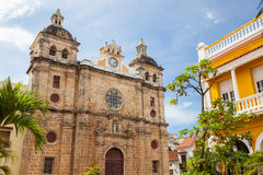 Cartagena, Colombia. Church of St Peter Claver in Cartagena, Colombia royalty free stock photography