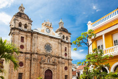 Cartagena, Colombia. Church of St Peter Claver in Cartagena, Colombia Royalty Free Stock Images