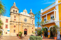 Cartagena, Colombia. Church of St Peter Claver in Cartagena, Colombia Stock Photography