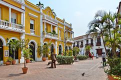 Cartagena Colombia. Colorful street in Cartagena, Colombia Royalty Free Stock Photos