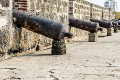 A typical view in Cartagena colombia stock photography