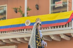 A typical view in cartagena in Colombia. royalty free stock photo