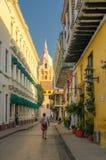 CARTAGENA, COLOMBIA - November, 30, 2009: Streets of Cartagena. Royalty Free Stock Photos