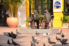 Cartagena, Colombia. Sculpture of Men playing Chess royalty free stock photography