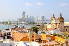 Cartagena, Colombia skyline. Historic city, bocagrande and port Stock Photo