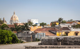Cartagena Colombia South America. Cartagena in Colombia, South America, is a nice place to visit with many very colorful houses, narrow alleys and beautiful Stock Image