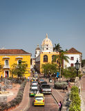 Cartagena Colombia South America. Cartagena in Colombia, South America, is a nice place to visit with many very colorful houses, narrow alleys and beautiful Royalty Free Stock Photos