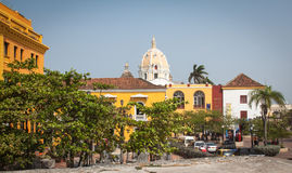 Cartagena Colombia South America. Cartagena in Colombia, South America, is a nice place to visit with many very colorful houses, narrow alleys and beautiful Royalty Free Stock Photo