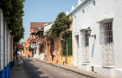 Cartagena Colombia South America. Cartagena in Colombia, South America, is a nice place to visit with many very colorful houses, narrow alleys and beautiful Stock Photography