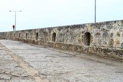 Cartagena rock wall stock images