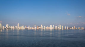 Cartagena, Colombia. White skyscrapers of Cartagena in Colombia Stock Image