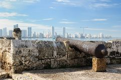 Colombia, View on the new Cartagena royalty free stock photo