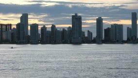 Cartagena - Columbia Skyscapers arkivfilmer