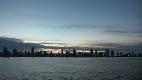 Cartagena - Columbia  Skyscapers. Shoreline of Playa de Boca Grande in Cartagena, Colombia. Highrises, hotels and apartments can be seen along the coast stock video footage