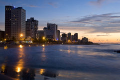Cartagena de Indias. Bocagrande beach area, Cartagena de Indias, Bolivar Department,, Colombia, South America Stock Image