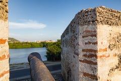 Cartagena działo Obraz Royalty Free