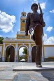 Cartagena, Espanha - 13 de julho de 2016: Monumento à infantaria marinha espanhola na plaza del Rey em Cartagena, Espanha Imagem de Stock
