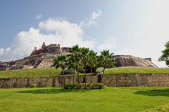 Cartagena-Festung Kolumbien lizenzfreie stockfotografie