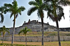 Cartagena Fortress. El Castillo de Felipe fortress in Cartagena, Colombia Stock Image