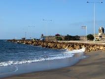 Cartagena fortress seaside road Royalty Free Stock Photos