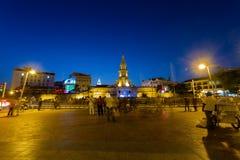 Cartagena-Glockenturm I& x27; m die blaue Stunde Stockbild