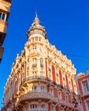 Cartagena Gran hotell Art Noveau Murcia Spain Royaltyfri Foto