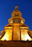 Cartagena Kolumbia Zegarowy wierza Fotografia Stock