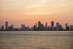 Cartagena, Kolumbien, Nachtstadt stockfotografie
