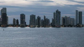 Cartagena - Kolumbien Skyscapers stock video