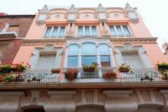 Cartagena modernistiska byggnader i Murcia Spanien Arkivfoton