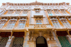 Cartagena modernistiska byggnader i Murcia Spanien Arkivfoto