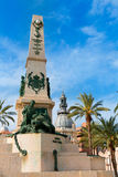Cartagena Murcia Cavite heroes memorial in Spain Stock Image