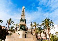 Cartagena Murcia Cavite heroes memorial in Spain Stock Photography
