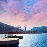 Cartagena Murcia port marina in Spain Stock Image