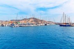 Cartagena Murcia port marina in Spain Royalty Free Stock Photos