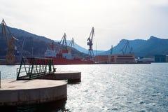 Cartagena Murcia port marina in Spain Stock Photo
