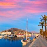 Cartagena Murcia port marina sunrise in Spain Stock Photo