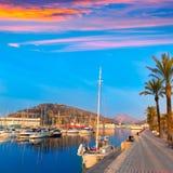 Cartagena Murcia port marina sunrise in Spain Stock Image