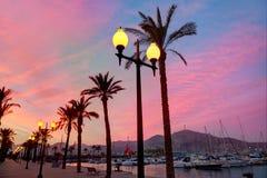 Cartagena Murcia port marina sunrise in Spain Stock Photography