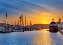 Cartagena Murcia port marina sunrise in Spain Stock Photos
