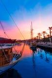 Cartagena Murcia port marina sunset in Spain Stock Image