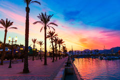 Cartagena Murcia port marina sunset in spain Stock Photos